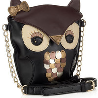 Yenzi Owl Across Body | Black | Monsoon