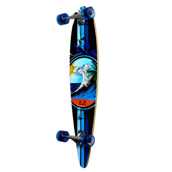 Punked Pintail Wave Longboard Complete