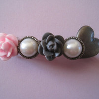 SALE  Sweet Heart Hair Barrette