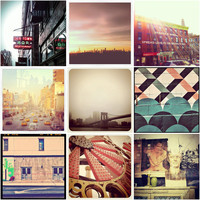 Scenes from Brooklyn and New York City, Collection of nine 5 x 5  images depicting the color, texture and personality of New York