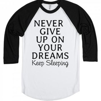 Keep Sleeping-Unisex White/Black T-Shirt