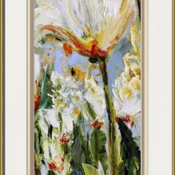 """""""Abstract Spring Tulips Oil Painting"""" by Ginette Callaway"""