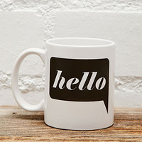 Tickled Teal Hello Mug