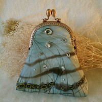 One Of Kind Beautyful purse of blue satyr or by Suryani on Etsy
