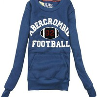 Blue Round-necked Cashmere Sweatshirt$38.00
