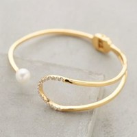 Pearl Eclipse Cuff by Gold Philosophy Pearl
