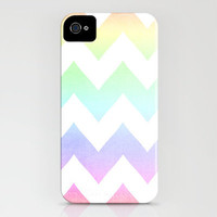 Watercolor Chevrons iPhone Case by CMcDonald | Society6