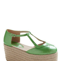 Get Your Chlorophyll Wedge | Mod Retro Vintage Wedges | ModCloth.com