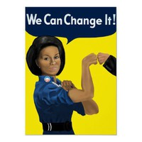 Michelle Obama Fist Bump Poster from Zazzle.com