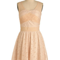 Pale Pink Posies Dress | Mod Retro Vintage Dresses | ModCloth.com
