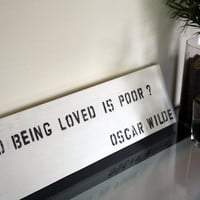 Oscar Wilde Quote by FromMyBookShelf on Etsy