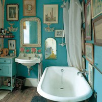 Bohemian Twilight: : boho bathrooms :