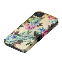Antique Floral Case-Mate iPhone 4 Iphone 4 Case-mate Case from Zazzle.com