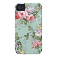 Vintage Elegant Pink Red Roses Pattern Id Iphone 4 Cover from Zazzle.com