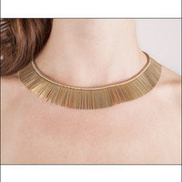 Vintage Egyptian Gold Pin Necklace ♥ - The Salvage Room
