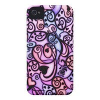 Heart Beats Singing, Stained Glass style Iphone 4 Id Cases from Zazzle.com