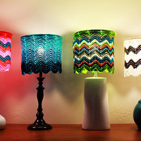 "Custom Made-To-Order Chevron 11""/28 cm diameter Lampshade"
