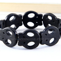 Day of the death, black skull bracelet
