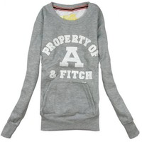 Gray Round Neck Sports Cotton Sweatshirt$38.00