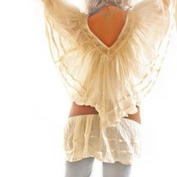 Angel hippie chic Bohemian tunic from Mexico by AidaCoronado