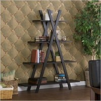 """X"" Book Shelf, Ebony"