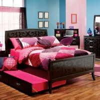 Belle Noir Cherry 3 Pc Twin Bedroom