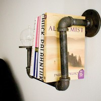 1 Sconce Bookshelf with Oil Candle by DirtyBils on Etsy