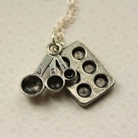 The Baking Necklace on a Sterling Chain by FreshyFig on Etsy