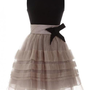 Elegant Pompon  Dress with Bow$109.00