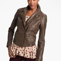 Coffee Shop Vintage Faux Leather Moto Jacket (Juniors) | Nordstrom