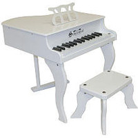Schoenhut White Fancy Baby Grand Toy Piano