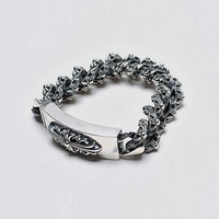 Mens Discount Silver Bold Bracelet at Fabrixquare