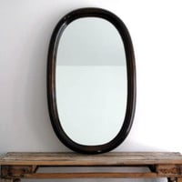 Antique Wall Mirror - Large Wood Frame Hanging Mirror, Decorative Bathroom Decor