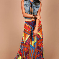 Tika Bold Maxi Skirt | Bohemian Fashion at Pink Ice