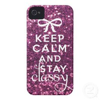 Keep Calm and Stay Classy Iphone 4 Case-mate Case from Zazzle.com