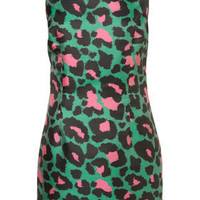 Animal Structured Shift Dress
