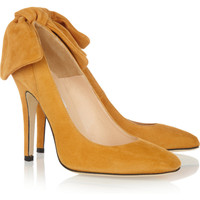 Carven | Bow-embellished suede pumps | NET-A-PORTER.COM