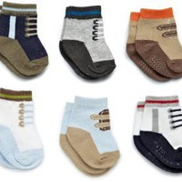 Amazon.com: Carter's Hosiery Baby-boys Newborn 6 Pack Comp Sneakers Socks: Clothing