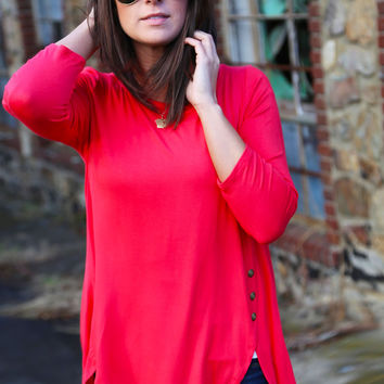 Talk To Me Tunic - Coral