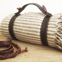 BLANKET STRAPS hand woven with beautiful soft tanned by mexchic