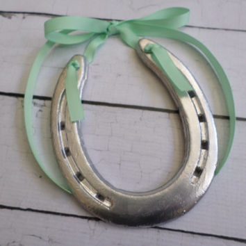 Lucky HorseSilver With Mint Ribbon
