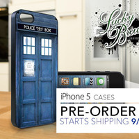 iPhone 5 Hard Case - Tardis Dr Who Phonebooth - Phone Cover PRE-ORDER
