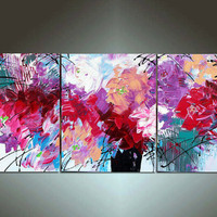 48'' Original Contemporary Palette Knife Fine Art by art53 on Etsy