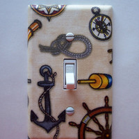Anchors Aweigh Single Toggle Switchplate