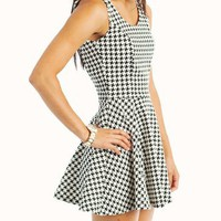 houndstooth-skater-dress BLACKWHITE - GoJane.com