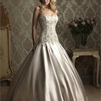 Ball Gown Strapless Beaded Satin Wedding Dress  BWD008 -Shop offer 2012 wedding dresses,prom dresses,party dresses for girls on sale. #Category#