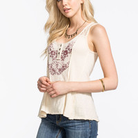 Others Follow Prevail Emblem Womens Tank Cream  In Sizes