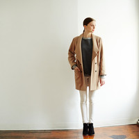 Camel Marie Wool Coat by Thomas Sires for Of a Kind