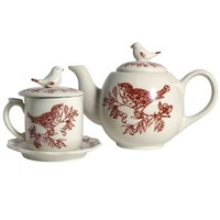 Red Bird Toile Collection