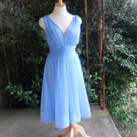 Fifties Shadowline ballerina nightgown Dresden blue by posypower
